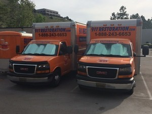 Flood Damage Restoration Vehicles